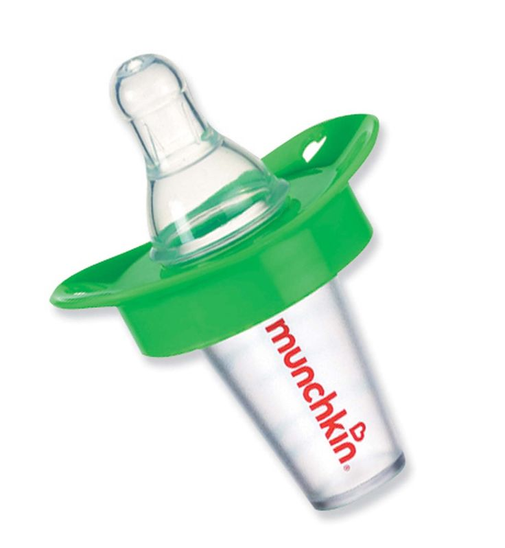 for breastfeeding mothers. pacifier that slowly adds medication. Mix medicine with breastmilk.