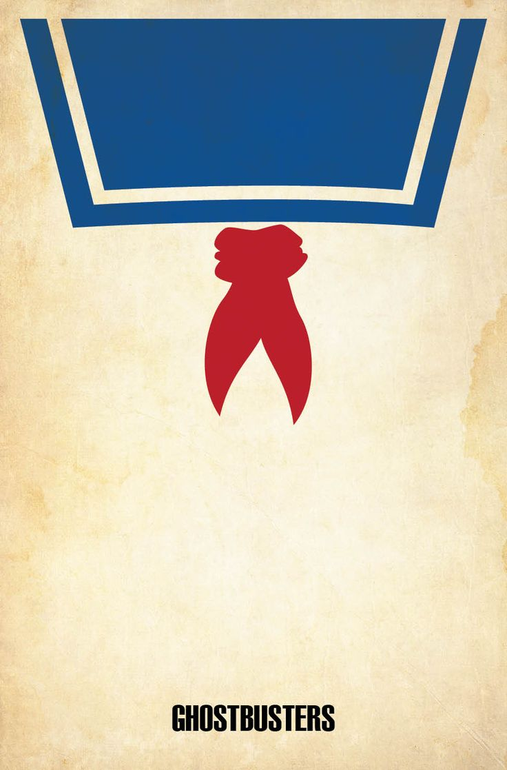 Ghostbusters (1984) - Minimal Movie Poster by Matt Owen ~ It could also work for Popeye. I am what I am.