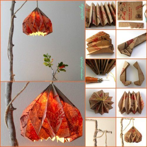 Thrifty DIY Project: Eye-Catching Pendant Lamp Made from Repurposed  Paper Bags