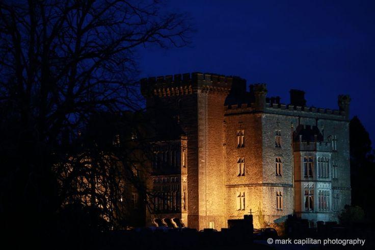 Markree Castle wedding chapel civil ceremony Ireland Sligo night photo