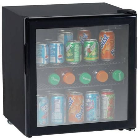 19 cf beverage cooler black with glass door mini fridgeall - Mini Fridge Glass Door