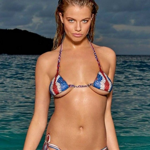 Hailey Clauson Gets Painted For Sports Illustrated Swimsuit Edition Photo