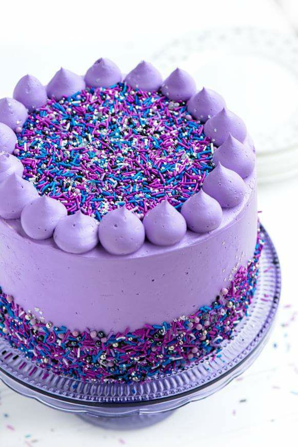 Best 25 Purple Cakes Ideas On Pinterest Birthday Cakes