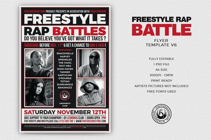 Freestyle Rap Battle Flyer Template V6