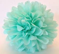 1 Tissue Paper Flower Mint Party decoration by PaperFlowersStore