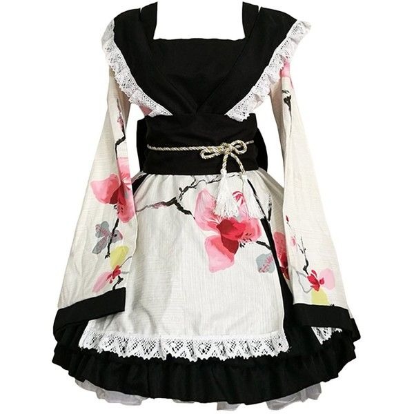 Partiss Women's Anime Cosplay Lolita Halloween Fancy Dress Japanese... ❤ liked on Polyvore featuring costumes, dresses, fancy costumes, ladies halloween costumes, womens animal halloween costumes, cosplay halloween costumes and womens snow white costume