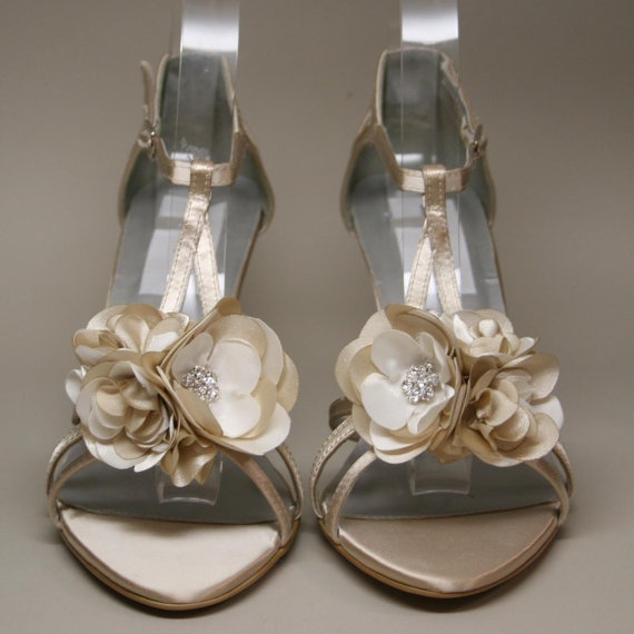 Wedding Shoes Champagne Wedding Wedges With By DesignYourPedestal