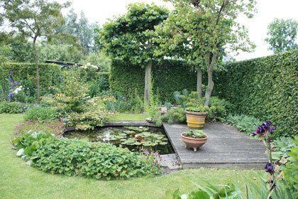 25 beste idee n over tuin fonteinen op pinterest tuin for Waterval vijver aanleggen