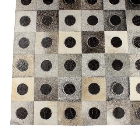 Leather Hide Patch Rug Lrg – Brown/Grey from Rustic Rugs - R6,499 (Save 50%)
