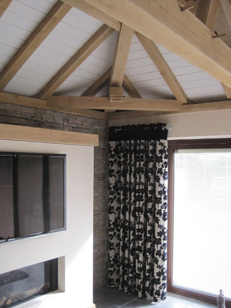 sofa wood frame exposed uk black legs 7 best hip roof vaulted ceiling images on pinterest ...
