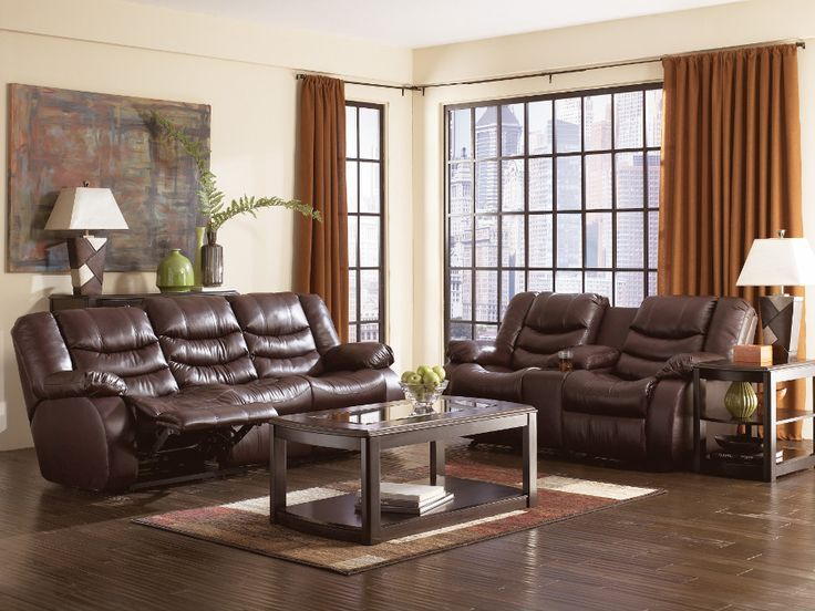 Recliner Sofa  pc Blythe collection brown bonded leather match upholstered reclining sectional sofa set with chaise This set features a recliner on the end