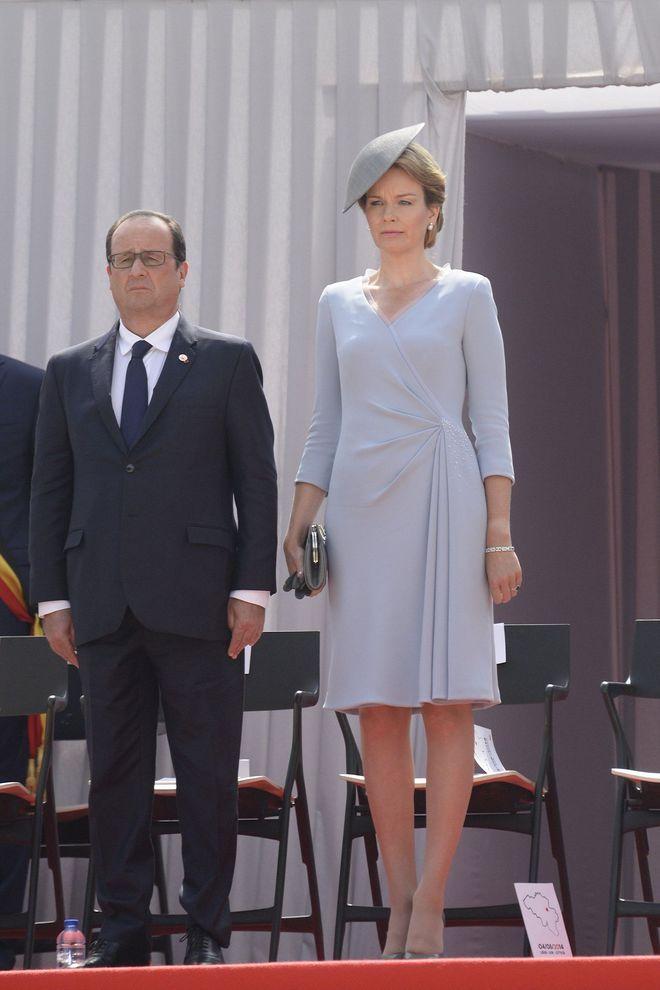 La Reine Mathilde de Belgique aux commémorations du 100e annivesaire de la Première Guerre Mondiale
