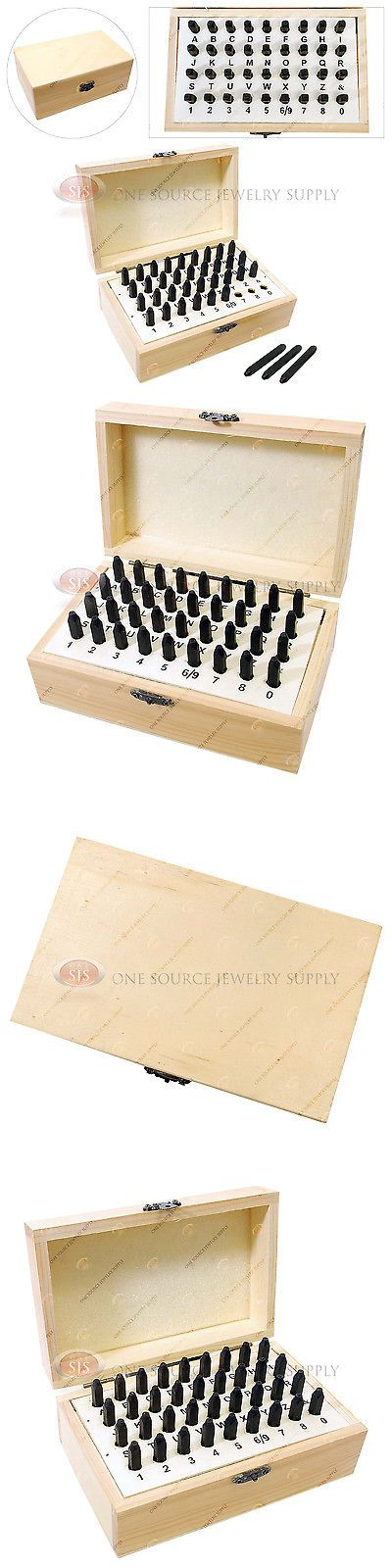 Punches and Stamps 179258: 2Mm Letter And Number Punches 36 Piece Set Steel Metal Wooden Storage Box Hobby BUY IT NOW ONLY: $35.32