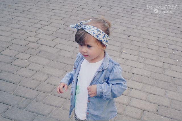 Dżinsowa koszula   Dziewczynka z guzikiem - lifestyle, parenting i odrobina mody dziecięcej