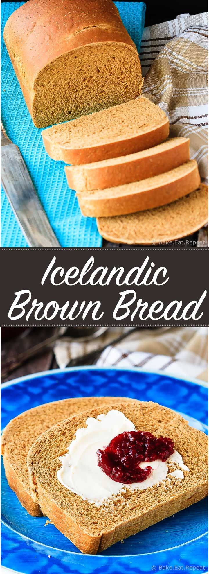 Icelandic Brown Bread - Easy to make, slightly sweet, soft and perfect for your morning toast - this Icelandic brown bread is amazing. So good with jam for breakfast, you need to try it!