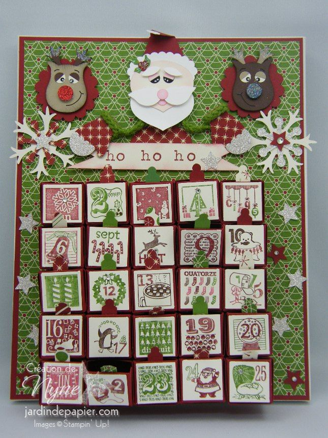 advent calendar calendrier de l 39 avent 100 stampin 39 up jardin de papier mes cr ations my. Black Bedroom Furniture Sets. Home Design Ideas