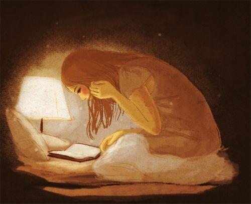 Hooked reading … / …Enganchada a la lectura (ilustración de Ju-young Seo)