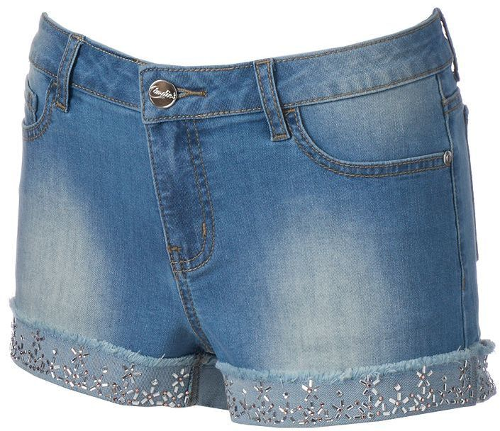 Juniors' Candie's® Sequined Roll-Cuff Shortie Shorts