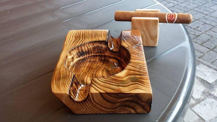 ....selfmade cigar ashtray....