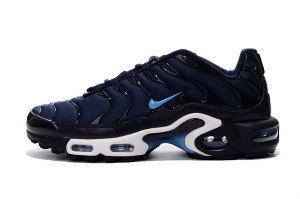 ed80eb22d6e92 Mens Nike Air Max Plus TN Midnight Navy Black University Blue Running Shoes