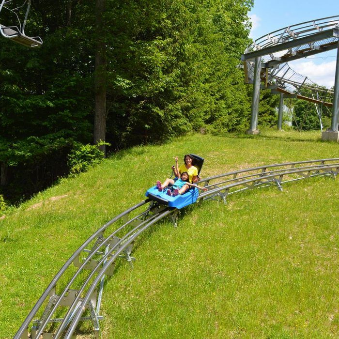 The Appalachian Express Mountain Coaster, in the Pocono Mountains of Pennsylvania, is open from April through late November, although times vary depending on the time of the year. Ride the mountain coaster from April 10 through April 30 Monday through Friday from 10 a.m. to 4 p.m. and on Saturday and Sunday from 9 a.m. to 5 p.m.