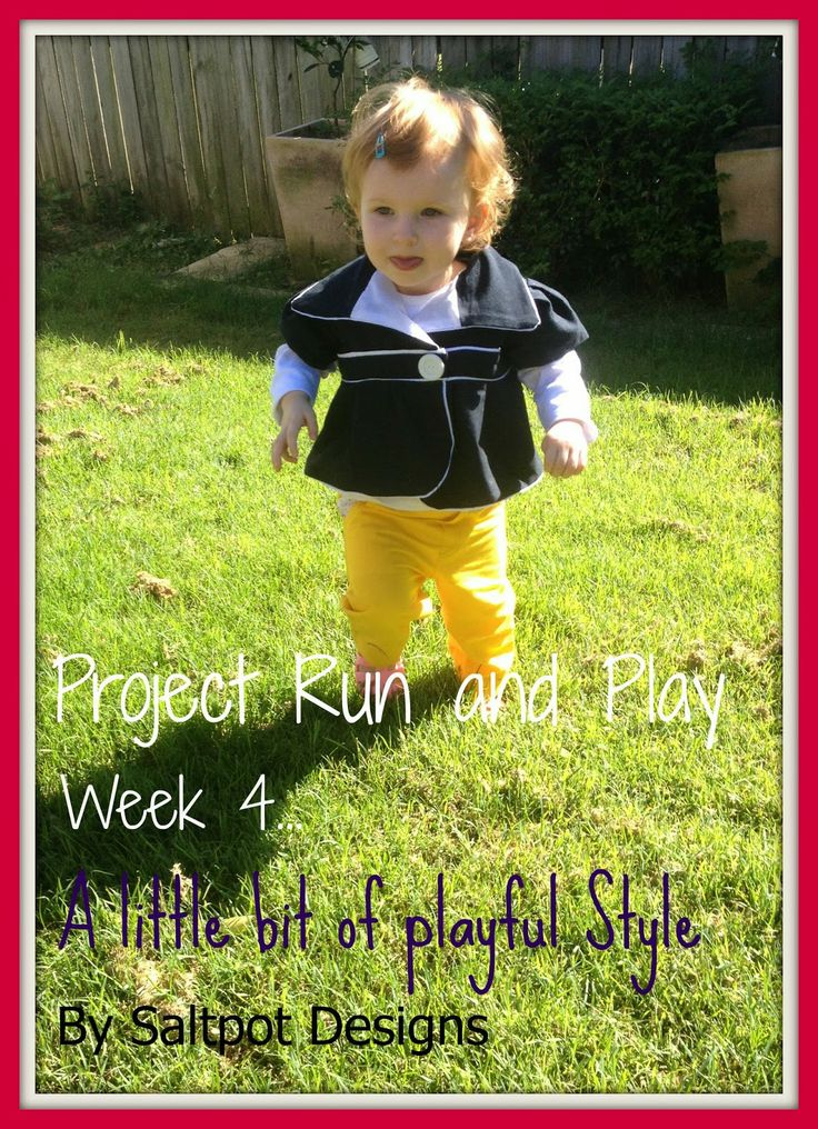 A little bit of this, a little bit of that...: Project Run and Play Week 4....