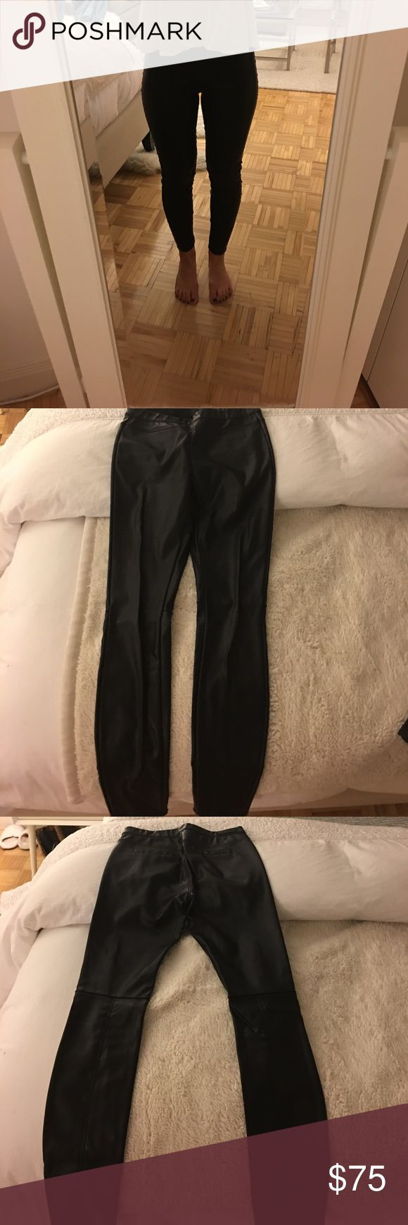Blank Denim Vegan Leather Pants Blank Denim faux Leather pull on pants - worn maybe 3 times Blank Denim Pants Leggings