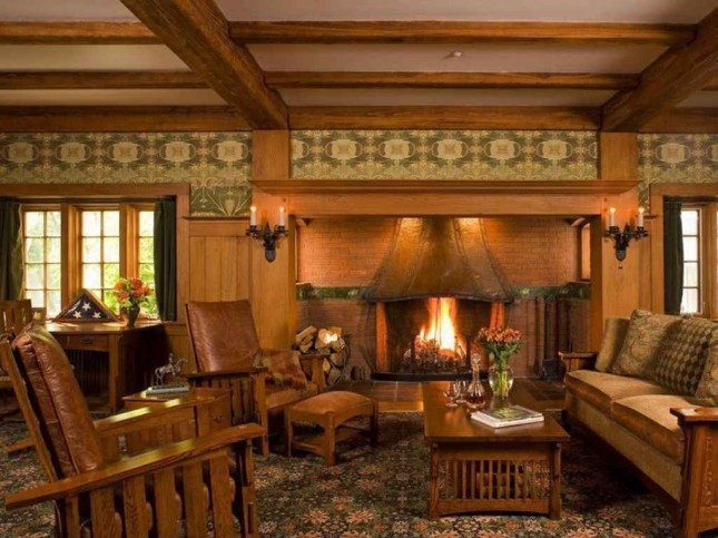 48 Best Mission Style Living Rooms Images On Pinterest Craftsman Interior Craftsman Homes And