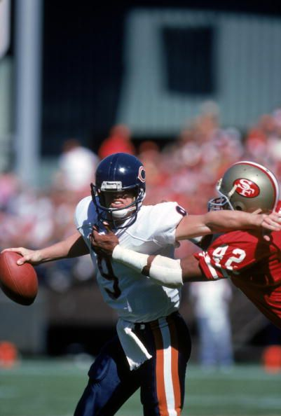 Jim McMahon, Chicago Bears, and Ronnie Lott, San Francisco 49ers