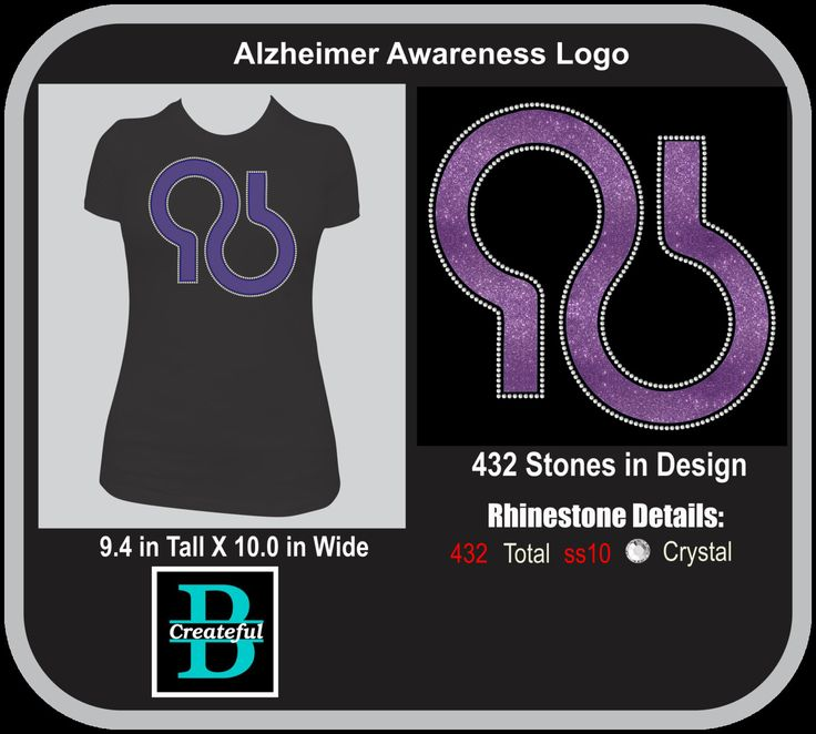 Alzheimer Awareness Logo, Rhinestone and Vinyl, Digital download, Alzheimer walk to remember by BeCreateful on Etsy