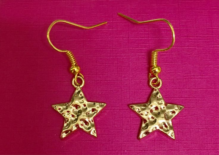 A personal favorite from my Etsy shop https://www.etsy.com/ca/listing/526643446/gold-star-earrings