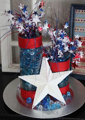 Brassy Apple: DIY 4th of July firecrackers decor  - add maple leaf replace red white and blue with red white and silver ...Canada Day