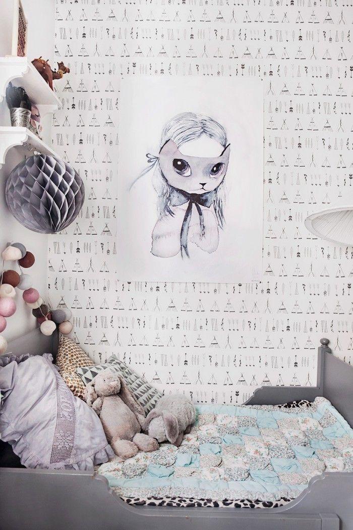25 best ideas about grey kids rooms on pinterest kids - Habitaciones vintage chic ...