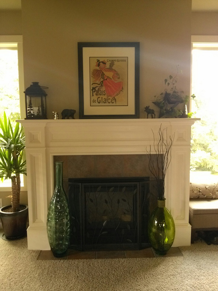 After installation in my home Diy MantelMantle