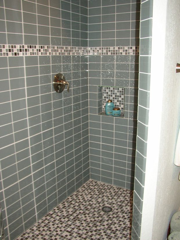 I Like This Walk In Shower With 2 Different Types Of Tile Part 74