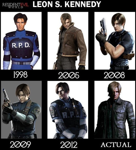 "What does ""actual"" mean? He's not a REAL person. But 2005 is by far my favorite Leon S. Kennedy of them all."