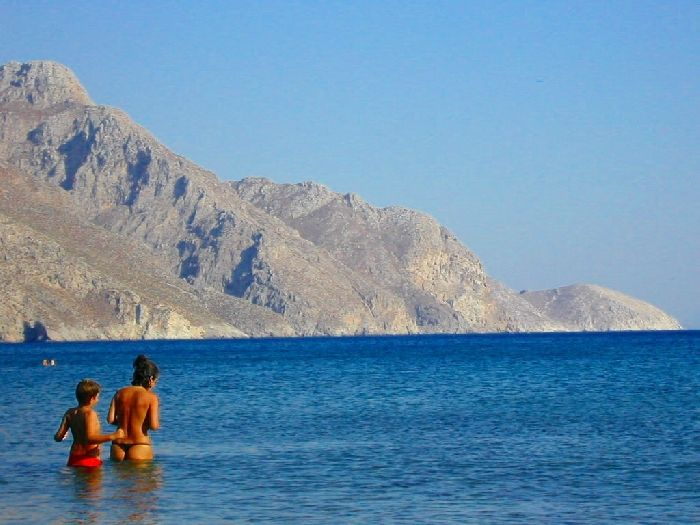 Thalassa, or sea. Tilos
