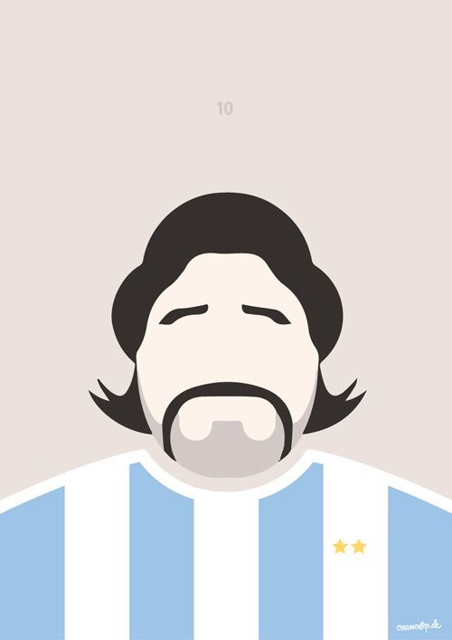 """""""Maradona"""" - Størrelse: 70cm x 100cm / A3"""