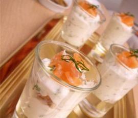 Recette Verrines saumon ricotta par littlemary - recette de la catégorie Entrées