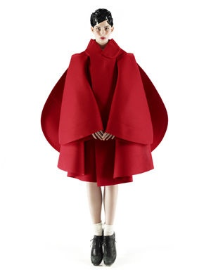 rei kawakubo | Comme des Garçons | high fashion avant garde structural red coat jacket