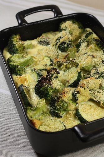 Clafoutis de brocolis & courgettes quiches 28 legumes