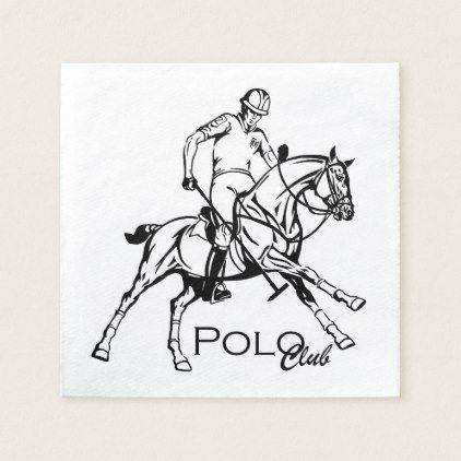#equestrian polo sport club paper napkin - customized designs custom gift ideas
