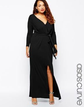 Enlarge ASOS CURVE Maxi Dress With Tie Front
