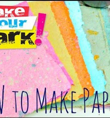 How to make paper easily // Papír merítés házilag egyszerűen - kézzel készített papír // Mindy - craft tutorial collection