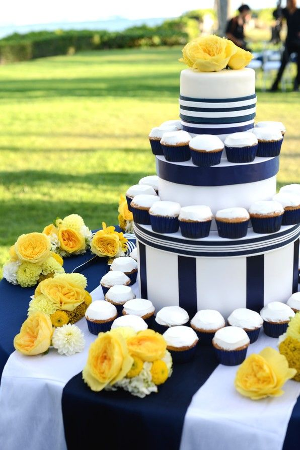 Modern Preppy Blue Yellow And White Wedding Real Inspiration From Event Essentials