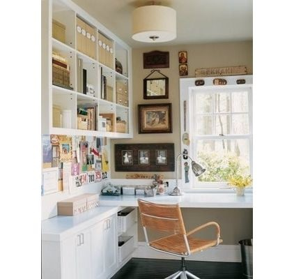 work for the home office. home office spacei need a space like this but with more working and storage room i am imagining wrapped around the front bedroom window that looks work for b
