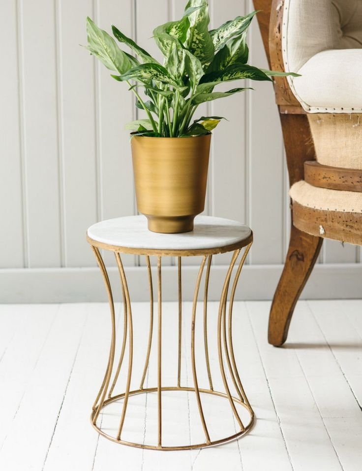 Marble Drum Side Table from Rose & Grey
