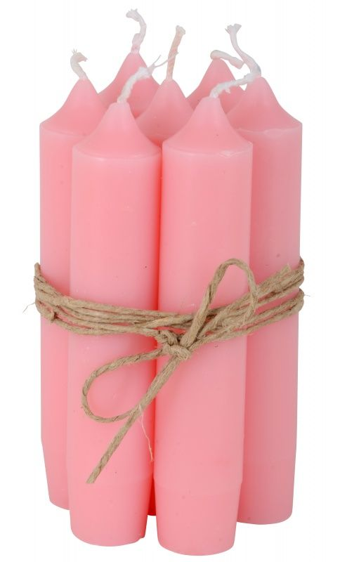 Short dinner candle new pink (7st)   NIEUW   Esmee Styling