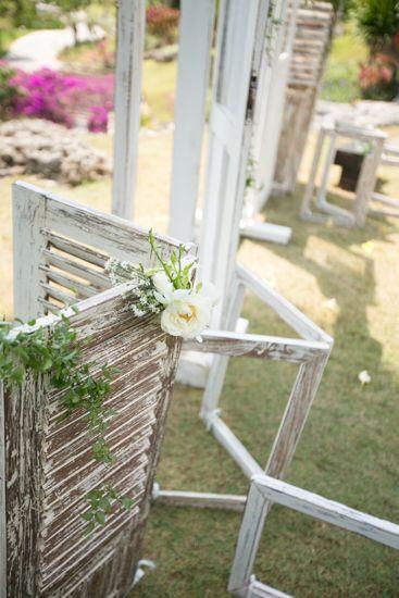 The doors at the altar by Tirtha Bridal Uluwatu Bali #outdoor #garden #wedding