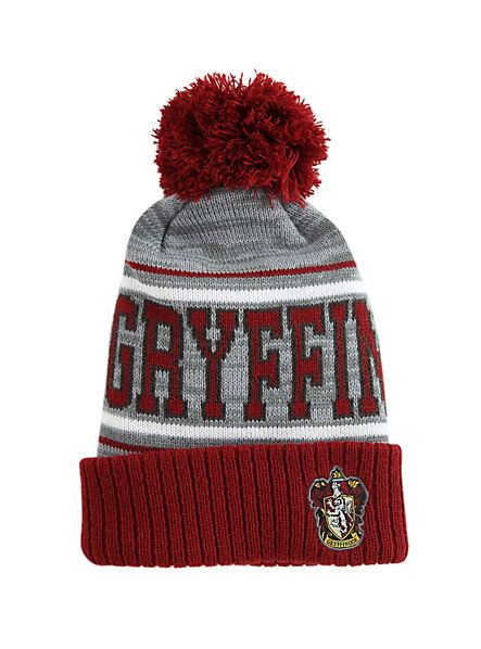 Harry Potter Gryffindor Fold-Over Pom Beanie<< there's a lot of hp beanies
